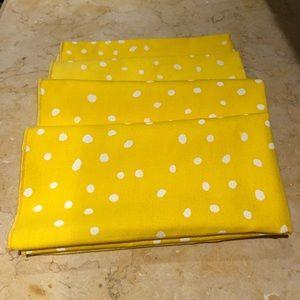 Other - Four Bright Yellow Cotton Napkins